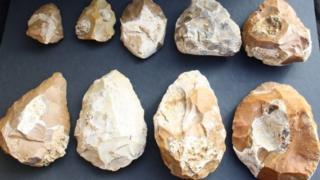 Stone tools from Jaljulia near Tel Aviv