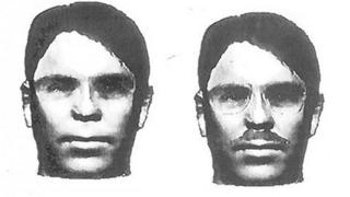 Computer generated images of the face of a man