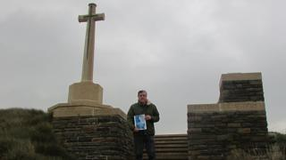 Mr Sabos at Canonne Farm cemetery