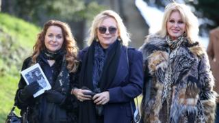 Julia Sawalha, Jennifer Saunders and Joanna Lumley