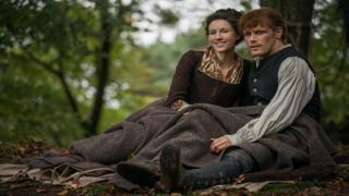 In the fourth season, Jamie (Sam Heughan) and Claire (Caitriona Balfe) are shipwrecked in North Carolina