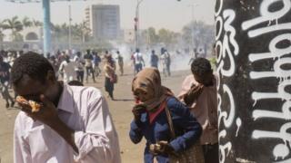 Tear gas in Khartoum
