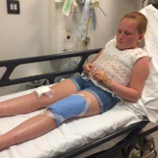 Olivia Ward in hospital