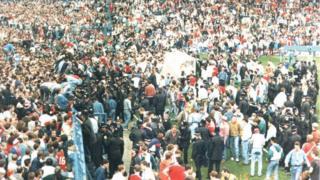 1989年4月、英ヒルズバラ・スタジアム