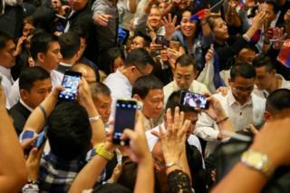 โรดริโก ดูแตร์เต ประธานาธิบดี, ฟิลิปปินส์, ประเทศไทย, เยือนไทย, กรุงเทพฯ, สงครามต่อต้านยาเสพติด, นโยบายปราบปรามยาเสพติด