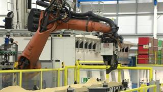 Robot arm in factory