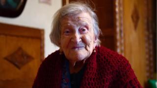 Emma Morano, 116, akiwa nyumbani kwake Verbania, Italia Kaskazini