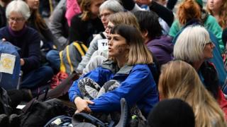 """شمار شرکتکنندگان در تجمعهای هواداران جنبش """"شورش انقراض"""" نسبت به تظاهراتی که ماه گذشته برپا شد، کمتر گزارش شده است."""