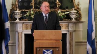 Alex Salmond stood down as first minister after Scotland voted No in the referendum