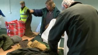 Coats being sorted