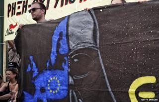Greek protester in Athens (17 June)
