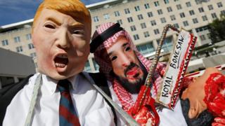 احتجاجات أمام مقر وزارة الخارجية الأمريكية في واشنطن