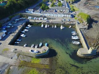 Dunure Harbour from above