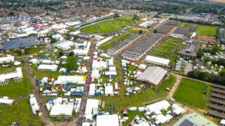 Aerial view of the showground.