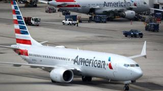 Grounded American Airlines Boeing 737 Max
