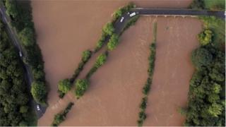 Floods from above in Campsie, County Londonderry