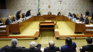 Plenário do STF em votação do habeas corpus de Lula