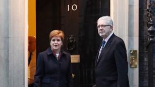 Sturgeon and May clash over indyref2 ahead of Brexit talks