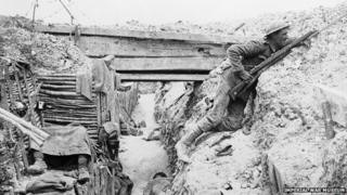 A trench in the Somme