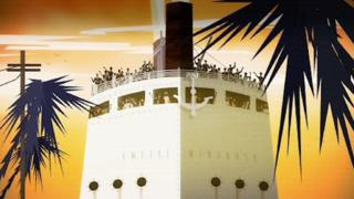 Animation of the Empire Windrush