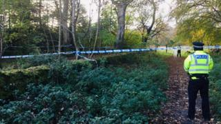 Police at Greenfern Woods in Aberdeen
