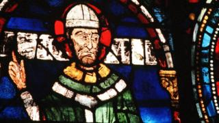Thomas Becket in stained glass at Canterbury Cathedral
