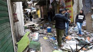 Bağdat'ta saldırının meydana geldiği pazar yeri