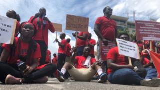 'Gbelee legal education now' – Law students for Ghana protest