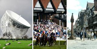 jodrell bank, chester races, chester rows