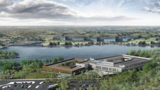 The new college would sit on the edge of the lake