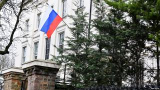 The Russian embassy in London. The UK has also cut off high-level contacts with Russia after the Salisbury nerve agent attack