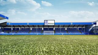 Artist's impression of new Milton End stand