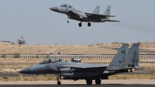 Saudi F15 planes