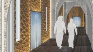 How the mosque interior could look