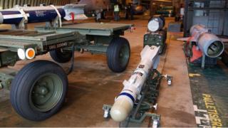 Brimstone missile at RAF Marham in Norfolk