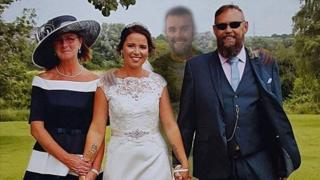 Catherine Flower, her mother, stepfather and brother Shaun Carter