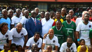 Akinwunmi Ambode: African football legends pay respect to Lagos State govnor