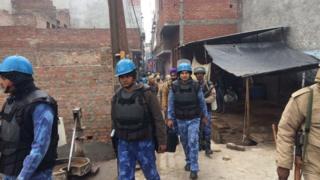 Police in Kasganj