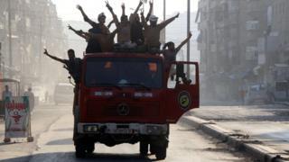 Сирийские повстанцы в Алеппо