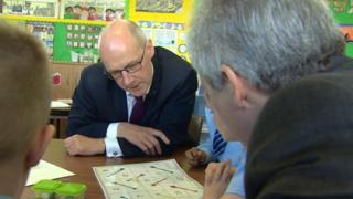 Mr Swinney on school visit