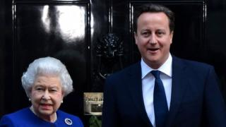 The Queen and David Cameron in 2012