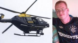 Police helicopter and Craig Ryan