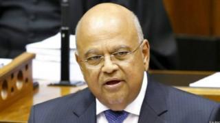 Pravin Gordhan, le ministre sud-africain des Finances