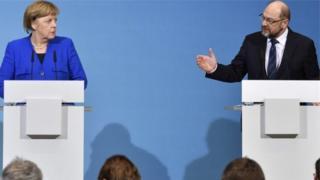 Angela Merkel iyo Martin Schul
