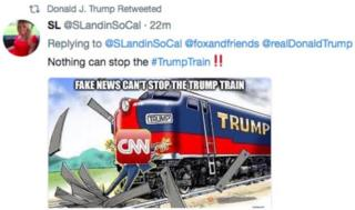 Trump train runs over CNN