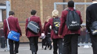 Unidentified schoolchildren