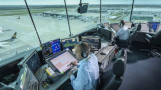 Air traffic controller at Heathrow