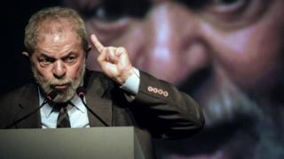 Luiz Inacio Lula da Silva speaks during the second congress of the IndustriALL Global Union in Rio de Janeiro, Brazil