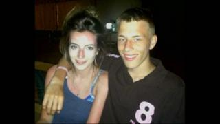 Alex Skeel and his former girlfriend