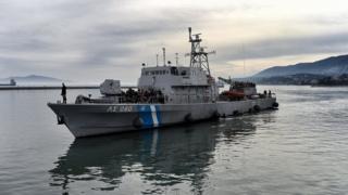Yunan sahil güvenlik teknesi